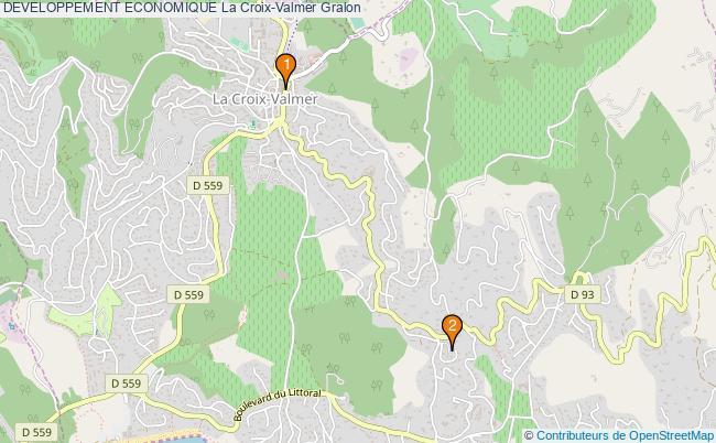 plan DEVELOPPEMENT ECONOMIQUE La Croix-Valmer Associations DEVELOPPEMENT ECONOMIQUE La Croix-Valmer : 2 associations