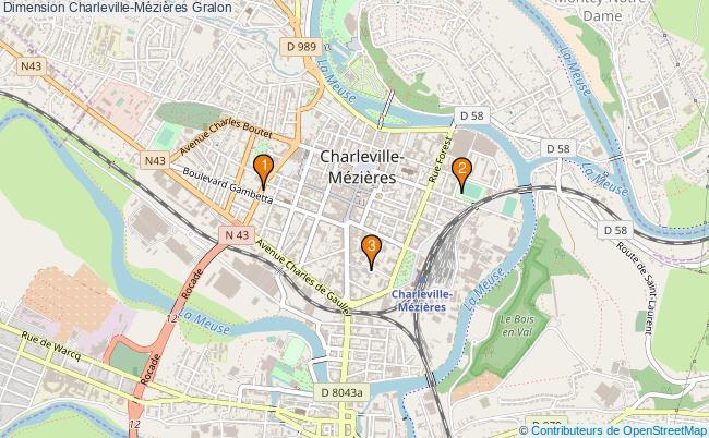 plan Dimension Charleville-Mézières Associations dimension Charleville-Mézières : 4 associations