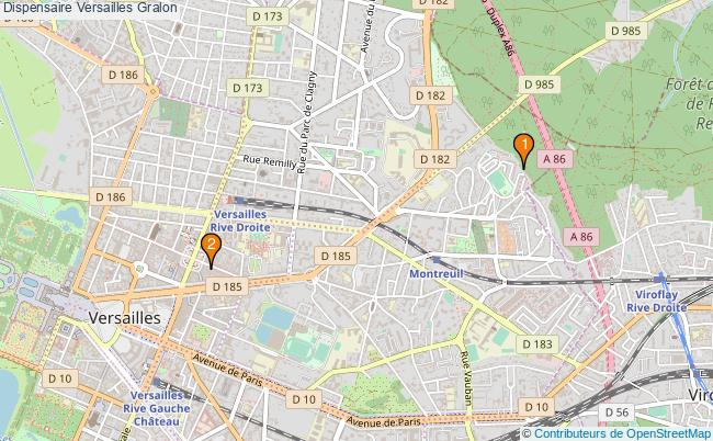 plan Dispensaire Versailles Associations dispensaire Versailles : 2 associations