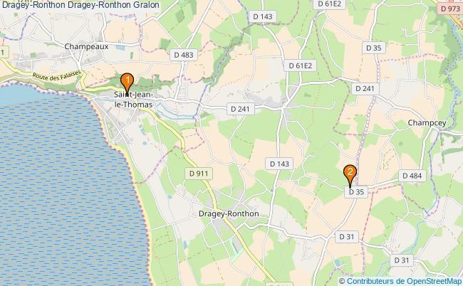 plan Dragey-Ronthon Dragey-Ronthon Associations Dragey-Ronthon Dragey-Ronthon : 4 associations
