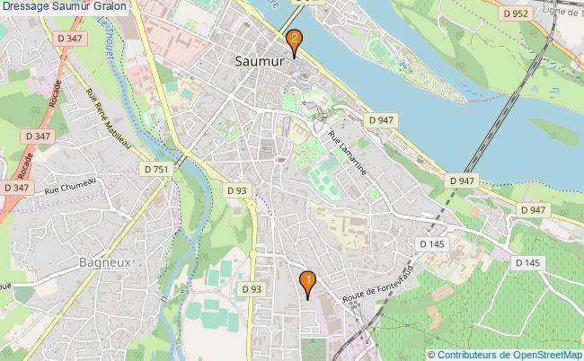 plan Dressage Saumur Associations dressage Saumur : 2 associations