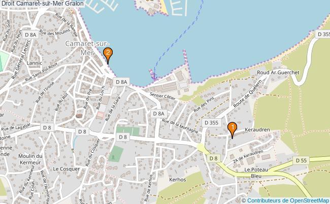 plan Droit Camaret-sur-Mer Associations droit Camaret-sur-Mer : 2 associations