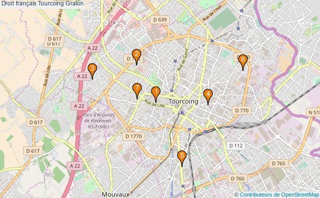 plan Droit français Tourcoing Associations droit français Tourcoing : 7 associations