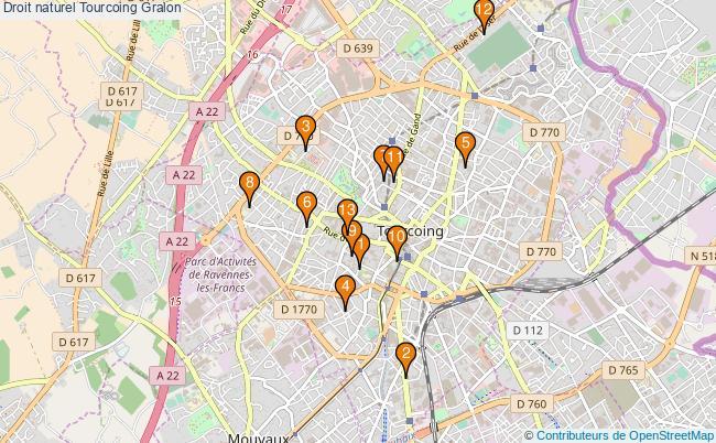plan Droit naturel Tourcoing Associations droit naturel Tourcoing : 13 associations