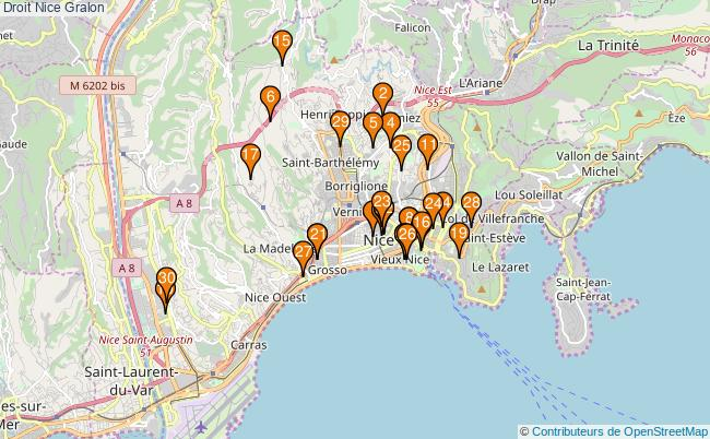plan Droit Nice Associations droit Nice : 87 associations