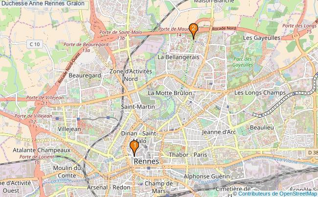 plan Duchesse Anne Rennes Associations duchesse Anne Rennes : 2 associations