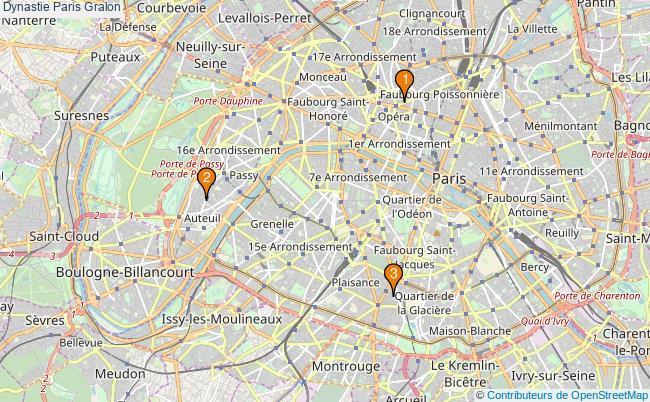 plan Dynastie Paris Associations dynastie Paris : 3 associations