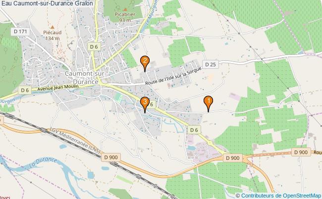 plan Eau Caumont-sur-Durance Associations Eau Caumont-sur-Durance : 4 associations