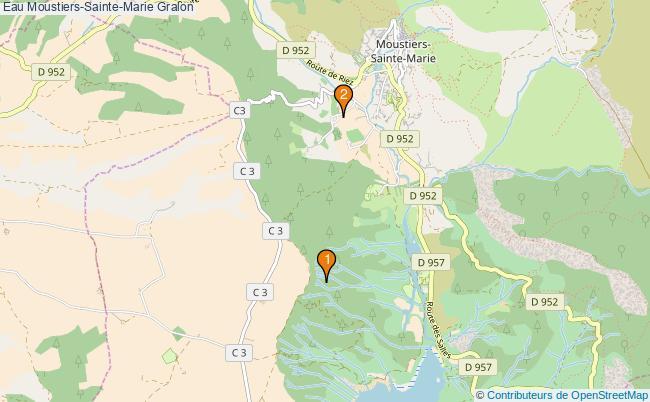 plan Eau Moustiers-Sainte-Marie Associations Eau Moustiers-Sainte-Marie : 2 associations