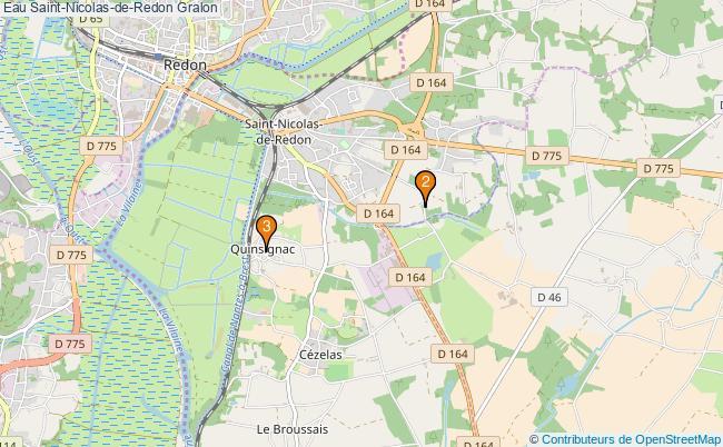 plan Eau Saint-Nicolas-de-Redon Associations Eau Saint-Nicolas-de-Redon : 3 associations