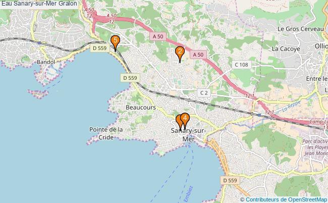 plan Eau Sanary-sur-Mer Associations Eau Sanary-sur-Mer : 5 associations