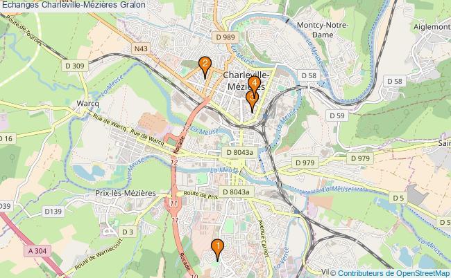 plan Echanges Charleville-Mézières Associations echanges Charleville-Mézières : 3 associations