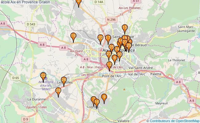 plan école Aix en Provence Associations école Aix en Provence : 68 associations