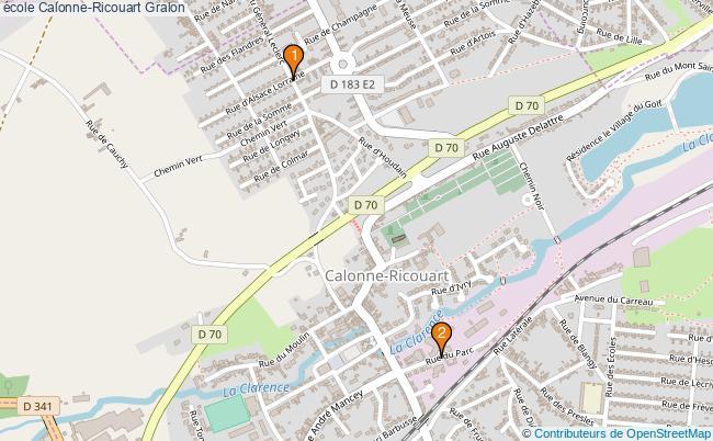 plan école Calonne-Ricouart Associations école Calonne-Ricouart : 3 associations