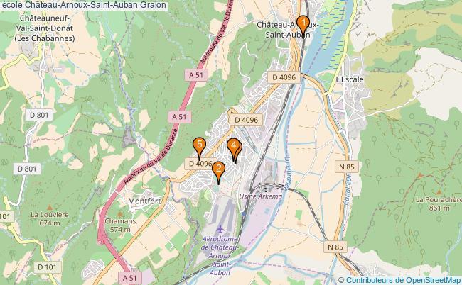 plan école Château-Arnoux-Saint-Auban Associations école Château-Arnoux-Saint-Auban : 5 associations
