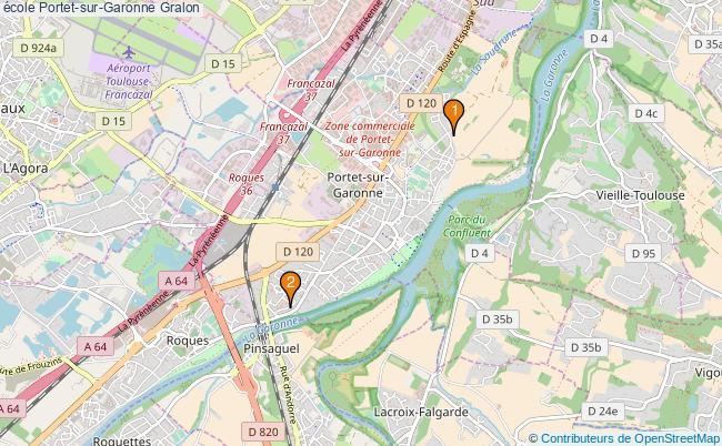 plan école Portet-sur-Garonne Associations école Portet-sur-Garonne : 2 associations