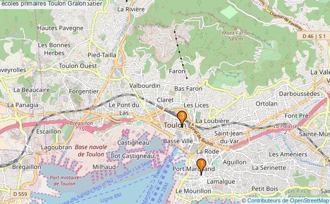 plan écoles primaires Toulon Associations écoles primaires Toulon : 3 associations