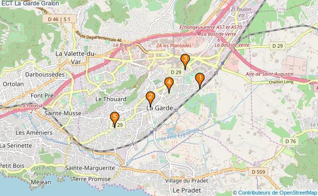 plan ECT La Garde Associations ECT La Garde : 5 associations