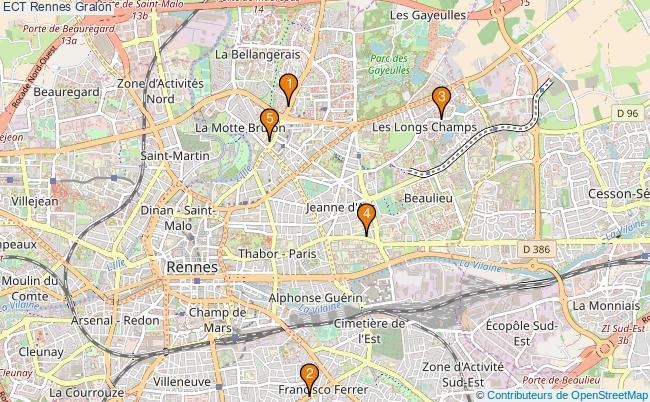 plan ECT Rennes Associations ECT Rennes : 5 associations