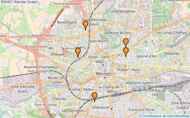 plan EDHEC Rennes Associations EDHEC Rennes : 6 associations