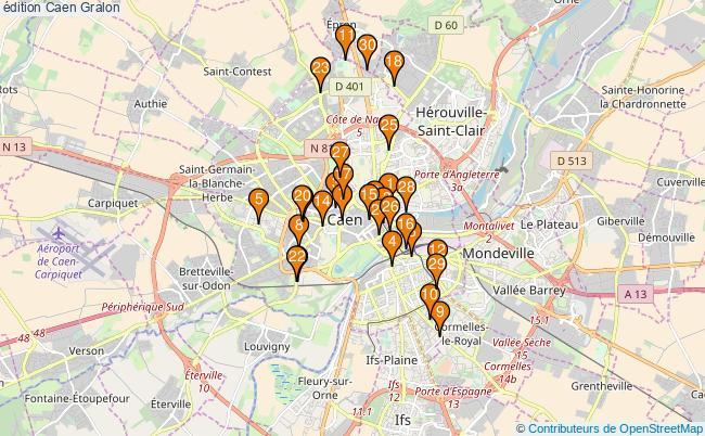 plan édition Caen Associations édition Caen : 57 associations