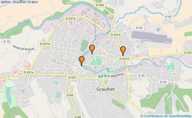 plan édition Graulhet Associations édition Graulhet : 3 associations