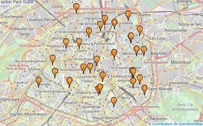 plan édition Paris Associations édition Paris : 1712 associations