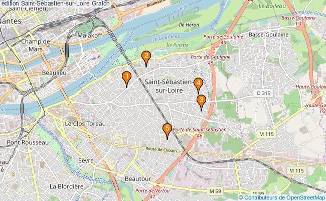 plan édition Saint-Sébastien-sur-Loire Associations édition Saint-Sébastien-sur-Loire : 5 associations