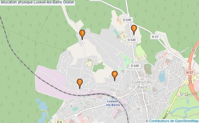 plan éducation physique Luxeuil-les-Bains Associations éducation physique Luxeuil-les-Bains : 4 associations