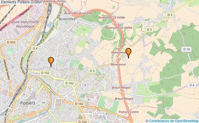 plan Elements Poitiers Associations elements Poitiers : 3 associations