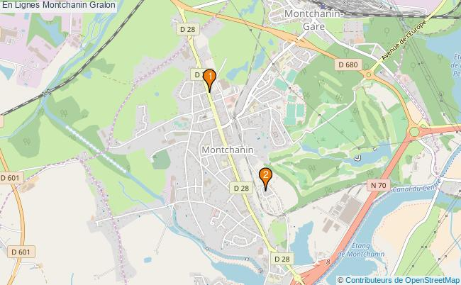 plan En Lignes Montchanin Associations En Lignes Montchanin : 2 associations
