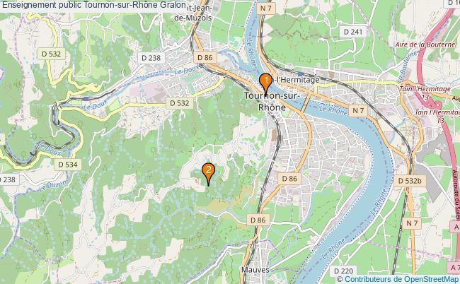 plan Enseignement public Tournon-sur-Rhône Associations enseignement public Tournon-sur-Rhône : 2 associations