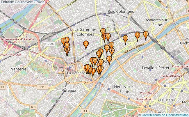 plan Entraide Courbevoie Associations entraide Courbevoie : 46 associations