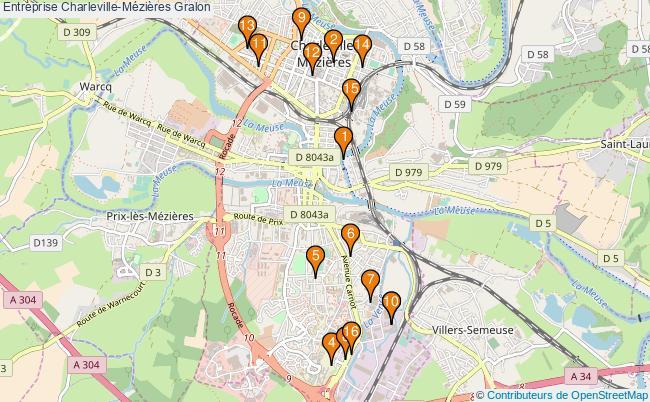 plan Entreprise Charleville-Mézières Associations entreprise Charleville-Mézières : 16 associations