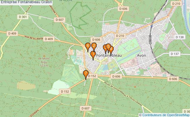 plan Entreprise Fontainebleau Associations entreprise Fontainebleau : 7 associations
