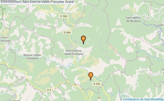 plan Environnement Saint-Etienne-Vallée-Française Associations Environnement Saint-Etienne-Vallée-Française : 7 associations
