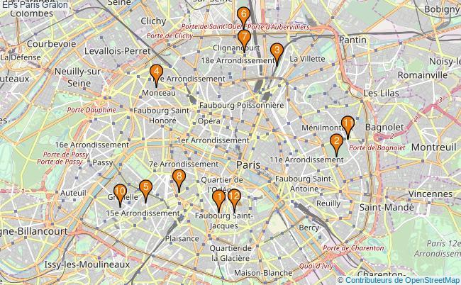 plan EPs Paris Associations EPs Paris : 14 associations