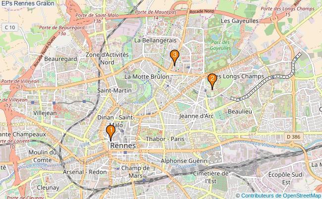 plan EPs Rennes Associations EPs Rennes : 3 associations