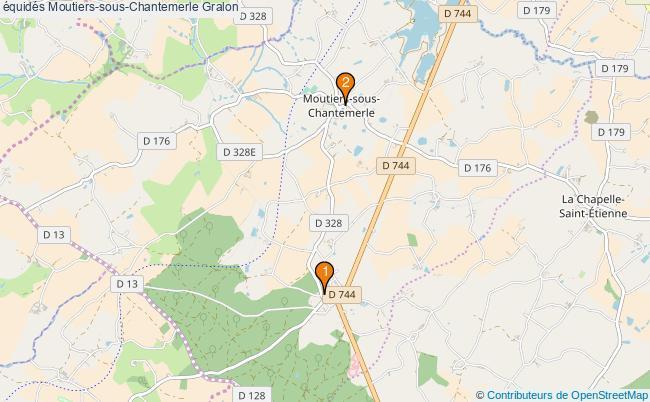 plan équidés Moutiers-sous-Chantemerle Associations équidés Moutiers-sous-Chantemerle : 2 associations