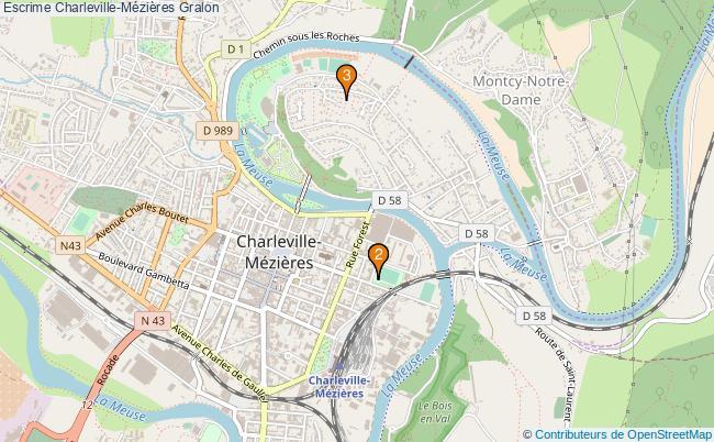 plan Escrime Charleville-Mézières Associations escrime Charleville-Mézières : 3 associations