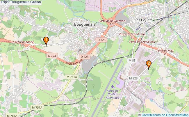 plan Esprit Bouguenais Associations Esprit Bouguenais : 3 associations
