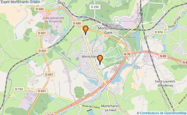 plan Esprit Montchanin Associations Esprit Montchanin : 4 associations