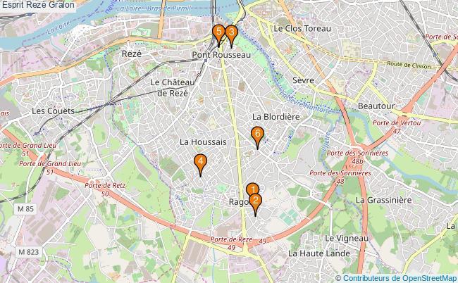 plan Esprit Rezé Associations Esprit Rezé : 7 associations