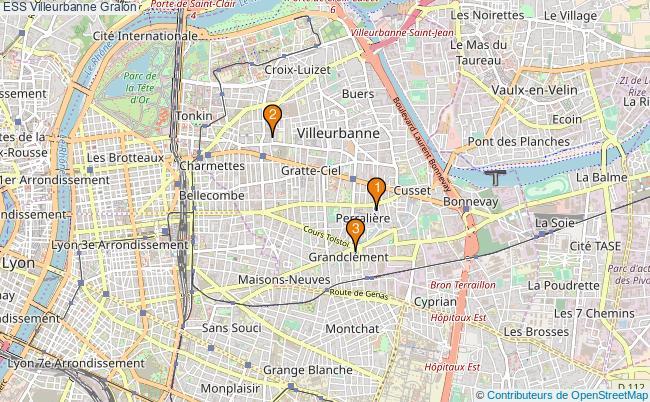 plan ESS Villeurbanne Associations ESS Villeurbanne : 3 associations