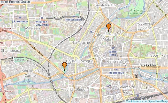 plan Ester Rennes Associations ester Rennes : 2 associations