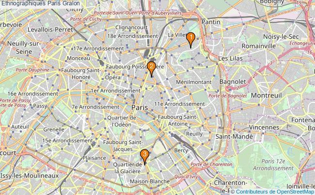 plan Ethnographiques Paris Associations ethnographiques Paris : 3 associations