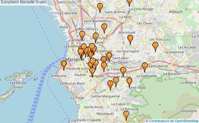 plan Européens Marseille Associations Européens Marseille : 60 associations