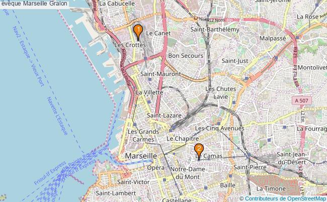 plan évêque Marseille Associations évêque Marseille : 2 associations