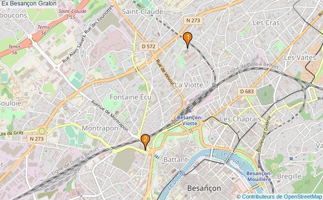 plan Ex Besançon Associations Ex Besançon : 2 associations