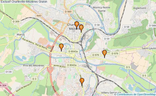 plan Exclusif Charleville-Mézières Associations Exclusif Charleville-Mézières : 6 associations